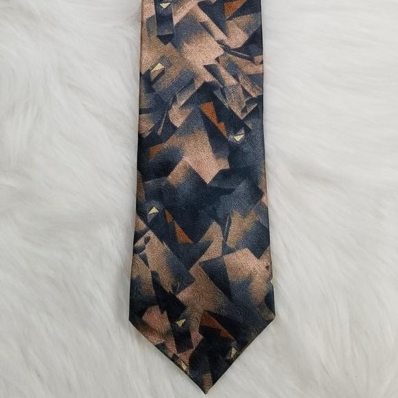 5 vintage silk TIES different shades of yellow orange and beige different patterns silk tie